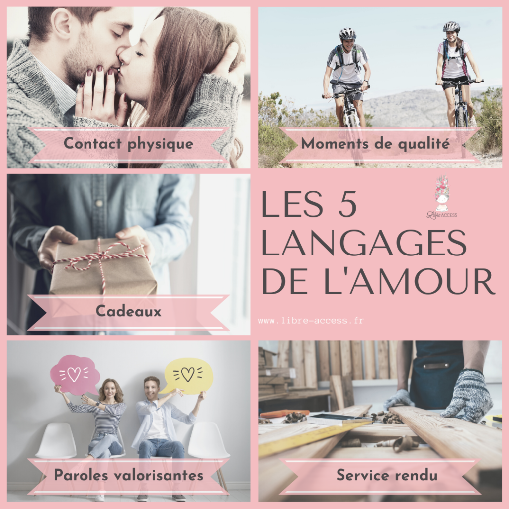 les 5 langages de l'amour relations communication gestion du stress émotions julie lancel libre access coach en développement personnel poitiers montamisé vienne