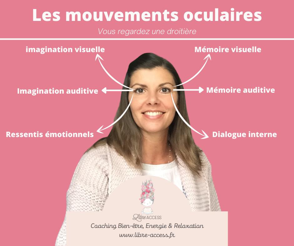 mouvements oculaires coaching de vie coach de vie Julie Lancel Poitiers Niort Poitou Charentes libre access stress émotions hypersensible hypersensibilité confiance en soi estime de soi image de soi ruminations mentales relaxation bien être développement personnel PNL énergétique